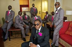 Groom and his wedding party. Real Silver Spring Wedding: Layo and Dapo