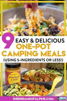 9 Easy & Delicious (Or Less!) One-Pot Camping Meals 9 Easy & Delicious (Or Less!) One-Pot Camping Meals The Menu, Camping Food Make Ahead, Camping Recipes, Camping Tips, Backpacking Food, Healthy Camping Meals, Camping Cooking, Camping Stuff, Outdoor Camping