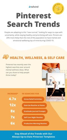Pinterest has recently seen the highest searches ever around mental wellness ideas. What can you share to help people thrive today? Our Pinterest toolkit includes free templates updated monthly and optimized for the latest Pinterest trends. Grab yours now!  Source: Pinterest Internal Search Data, February - May 2020 Natural Medicine, Herbal Medicine, Herbal Remedies, Home Remedies, How To Stay Healthy, Healthy Life, Search Trends, Eating Organic, Green Life