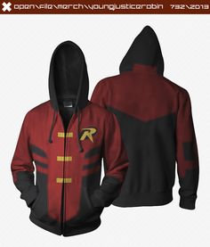 Young Justice Robin Hoodies
