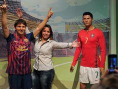 Messi y Cristiano juntos...en el museo de cera