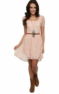 Deb Shops #Lace #Dress with Cocoon Sleeves, High Low Hem and Belted Waist $25.00