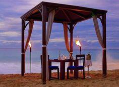 Cena romantica alle Barbados