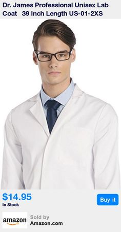 Professional Medical Lab Coat. Custom Styled for Men and Women. * Suitable for all Medical Professionals to include Doctors, Scientists, Dentists and Nurses. * One of the Best Selling Lab Coats available for Third Level University Students * Superior Industry Grade Fabric. 245GSM Weight. Low Shrinkage * 2 Waist Pockets and 1 Chest Pocket with Pen Holder • Modern Design with Concealed Snap Closing for Quick Release • Entry Slits at Sides for Access to User's Trouser Pockets