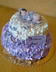 Christening cake with sleeping fairy