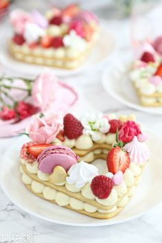 Trendy Cream Tarts are all the rage! Also known as cream biscuits or cream cakes, you can cut them into letters, numbers, or shapes, and decorate them with fruits, flowers, and candies. | From SugarHero.com