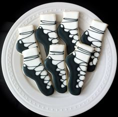 Irish Step Dancing Shoes decorated cookies by peapodscookies