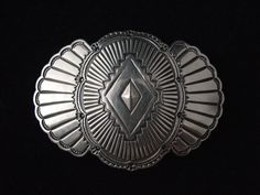 Hebilla de plata Concha Fan