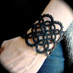Tatted Lace Cuff Bracelet - Illusion. $25,00, via Etsy.