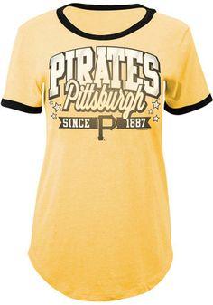 ecf7c7a6adf Pitt Pirates Womens Gold Tri-Blend T-Shirt Spring Training