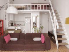 Vista del salón con la cocina del apartamento en New York de Hugo y Ainara…