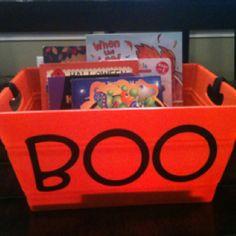 Halloween book basket!