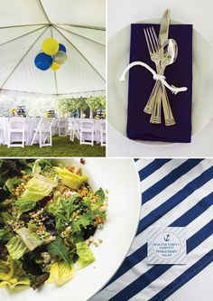 nautical baby shower tablescape