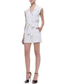 Daisy Printed Tie-Waist Jumpsuit by Opening Ceremony at Neiman Marcus.