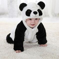 28.56$  Buy here  - New Winter Animal Warm Jacket Coat for Boy Girl Baby Clothes Siamese Romper