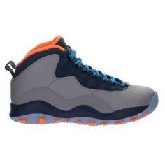 competitive price a2b26 d3ebb Air Jordan 10 Retro Wolf Grey Dark Powder Blue-New Slate-Atomic Orange, Jordan-Jordan 10 Shoes Sale Online