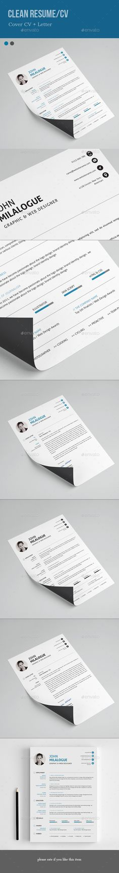 Resume Cover Letter Templates Personal Cv  Resume & Cover Letter  Pinterest  Resume Cover .