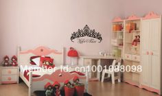 princess room decorating decals | ... princess room wall decor stickers, princess bedroom decoration for