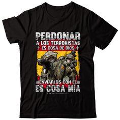 España no Perdona - Esto es España sudadera camiseta. Ferrari F1, Real Madrid, Military, Warriors, Spain, Mens Tops, Clothes, Green Beret, Frases