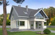 Проект одноэтажного жилого дома с мансардой и террасой Rg5096 Вид1