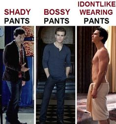 Different Kind of Pants as Defined by Damon Salvatore