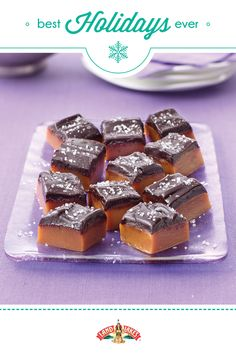Divine creamy caramels dipped in dark chocolate.