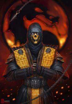 Scorpion, Mortal Kombat, by StanislavNovarenko.