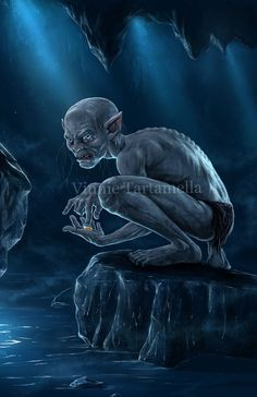 Gollum by VinRoc on DeviantArt Tolkien, Gollum Smeagol, Sleeping Tiger, Mysterious Girl, Bravest Warriors, Scary Monsters, Fantasy Illustration, Reference Images, Lord Of The Rings