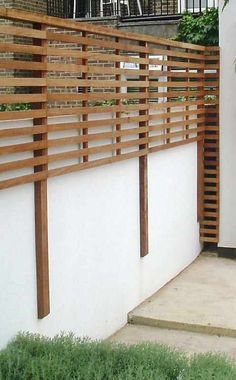 great privacy fence design ideas to get inspired - ., More than 31 great privacy fence design ideas to get inspired: Although historic around thought, the actual pergola have been having somewhat of a modern day rebirth most of these days. Backyard Privacy, Backyard Fences, Backyard Landscaping, Fence Garden, Backyard Designs, Patio Fence, Balcony Privacy, Decking Fence, Landscaping Ideas