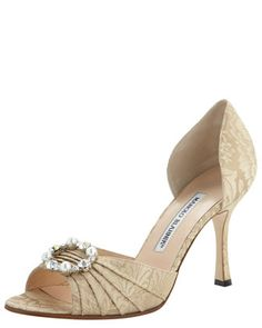 A shoe wardobe staple - Sedaraby Brocade d\'Orsay by Manolo Blahnik at Bergdorf Goodman.