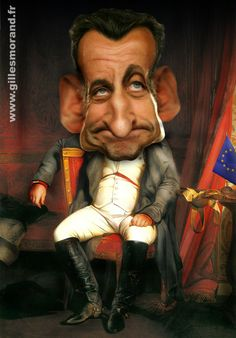 Nicolas Sarkozy by Gilles Morand Funny Caricatures, Celebrity Caricatures, Selling Art Online, Modern History, Cartoon Pics, Face Art, Art Faces, Funny Faces, Great Artists