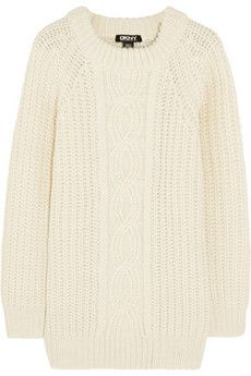 DKNY Cable-knit sweater    NET-A-PORTER