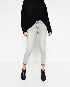 Image 2 of MID-RISE SKINNY JEANS from Zara