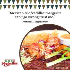 Thank you Jonathan for leaving a 5-Star Review on Google and for recommending the Mexican Trio and the Cadillac Margarita. Try it this weekend folks. Like Jonathan said, you can't go wrong with it. ;-) | 3 Margaritas - Orchard Mall - Google+ Orchard Restaurant, Marketing Ideas, Cadillac, Mall, Mexican, Canning, Star, Google, Food