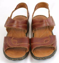 Josef Seibel Debra Womens Leather Sandals Brown Comfort Straps Casual 7.5 M…