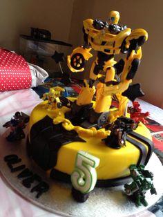 5th Transformer Birthday Cake by Jo Moffatt