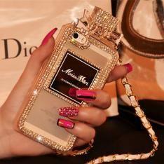おしゃれセレブ上品ブランドDior 香水瓶型iPhoneSE/5s/5 ケース ディオール ソフトTPU製クリアケースアイフォン7/6s PLUS 携帯カバー チェーン付きiphone7/6 plus...