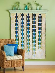 The Chronicles of Home: {DIY} How to Hang a Quilt