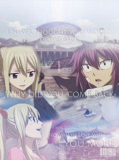 Nalu... OMG cant wait for this to come... Its been a very long time in the making
