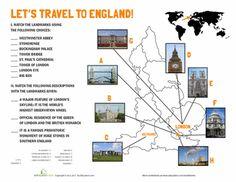 Worksheets: England Landmarks