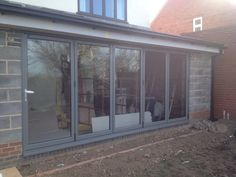 Colour RAL7005 #Aluminium #BiFolding #Doors Installed in Sutton in Ashfield, #Nottingham. Telephone 01158 660066. Visit Our Website http://www.thenottinghamwindowcompany.co.uk or pop in to our West Bridgford Showroom.... #TNWC