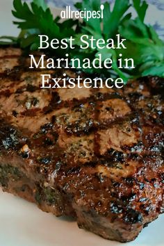Best Steak Marinade in Existence Recipe Best Steak Marinade in Existence Recipe Allrecipes allrecipes Grilling and BBQ Recipes Best Steak Marinade in Existence Marinade Für Steaks, Steak Marinade Recipes, Grilled Steak Recipes, Grilling Recipes, Meat Recipes, Cooking Recipes, Marinated Steak, Steak Tenderizer Marinade, Grilled Steak Marinades