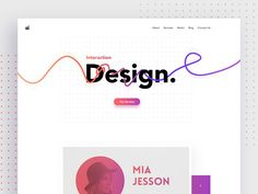 Creative Design Agency Website designed by Ali Sayed. Connect with them on Dribbble; the global community for designers and creative professionals. Design Web, Interaktives Design, Design Ideas, Graphic Design, Website Header Design, Website Layout, Website Ideas, Design Agency Website, Ui Kit