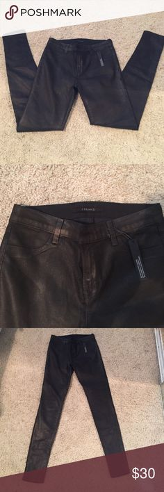 "J brand brown metallic super skinny jeans J brand brown metallic with gold sparkle. Super skinny jeans. Size 28. Inseam: 30""   Front rise: 10"".  Only worn once! J Brand Jeans Skinny"
