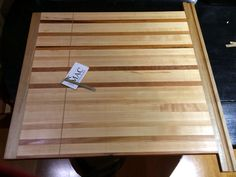 A custom made pull out cutting board Custom Cutting Boards, Butcher Block Cutting Board
