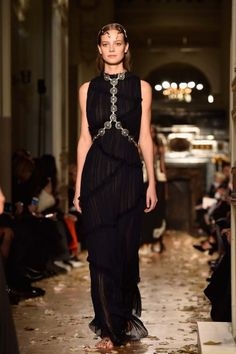 ATELIER Valentino Spring/Summer 2016 - Transparent pleated black dress