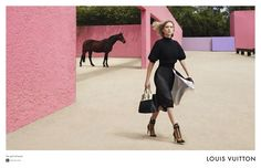 Léa Seydoux, a pink ranch and Mexico #LouisVuitton #PatrickDemarchelier