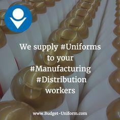 We supply #Uniforms to your #Manufacturing #Distribution workers #SataAna #ElMonte #Torrance #RedondoBeach