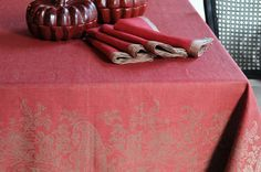 #LinenWay #Linen #Napkin #Red Napkin #Hemstitching #Holiday #Bright #LinenNapkin #100% Linen