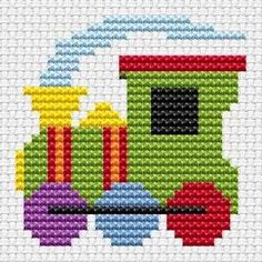 thomas train cross stitch pattern | Free Train Cross Stitch Patterns